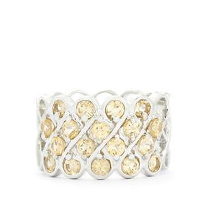 2.62ct Ceylon Imperial Garnet Sterling Silver Ring