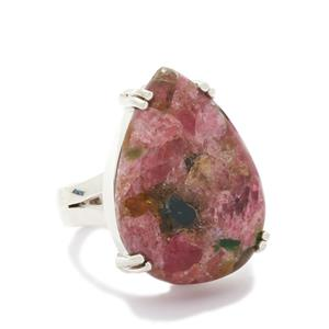 20.00ct Fusion Tourmaline Sterling Silver Ring