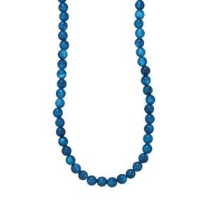 Blue Onyx Bead Necklace in Sterling Silver 103cts