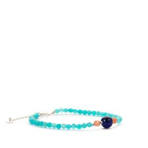 Amazonite, Lapis Lazuli and Sunstone Bracelet ATGW 16.75cts
