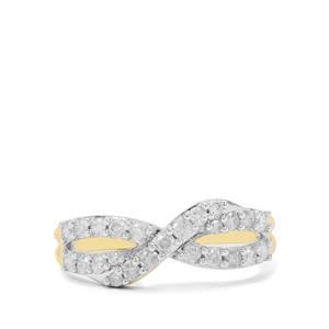 GH Diamond Ring in 9K Gold 0.50ct