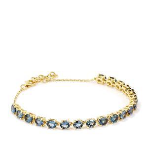 Mahenge Blue Spinel Bracelet in 9K Gold 7.03cts
