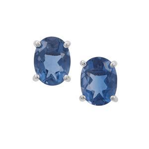 Colour Change Fluorite Earrings in Sterling Silver 3cts