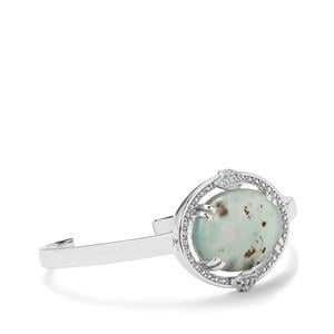 Aquaprase™ Cuff Bangle with White Topaz in Sterling Silver 20.72cts