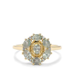 Alexandrite & Diamond 9K Gold Ring ATGW 1.33cts