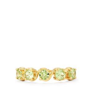 1.08ct Merelani Mint Garnet 9K Gold Ring