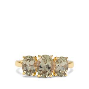 3.03ct Csarite® 9K Gold Ring