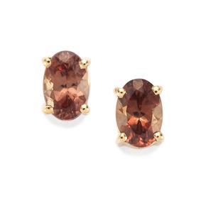 Tsivory Colour Change Garnet Earrings in 9K Gold 1.03cts