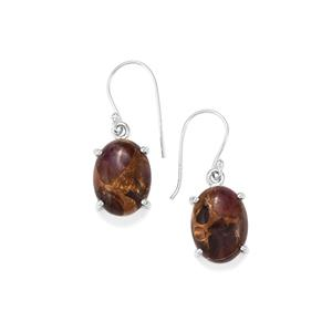 Copper Mojave Amethyst Earrings in Sterling Silver 18cts
