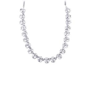 Petalite Necklace  in Sterling Silver 32.17cts