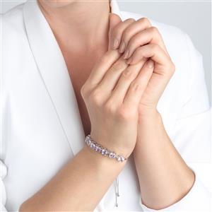 Lone Star Rose De France Amethyst Slider Bracelet  in Sterling Silver 12.27cts