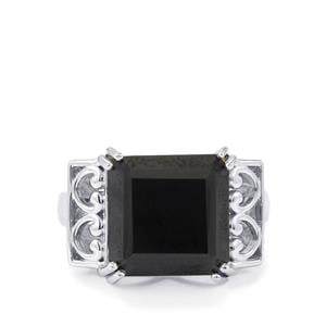 10.50ct Black Spinel Sterling Silver Ring