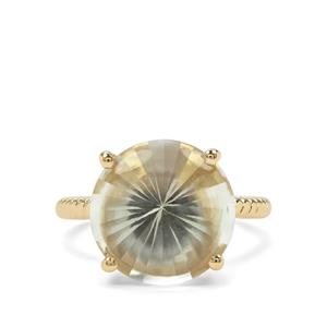 8.32ct Prasiolite Midas Ring