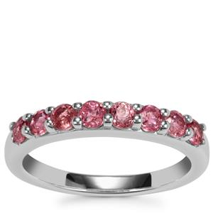 Natural Pink Tourmaline Ring in Sterling Silver 0.65ct