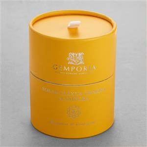 Chakra Range - Solar Plexus Chakra Candle with Citrine Tumbled Stone 17cts