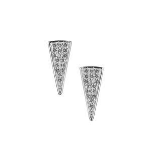White Topaz Earrings in Sterling Silver 0.18cts