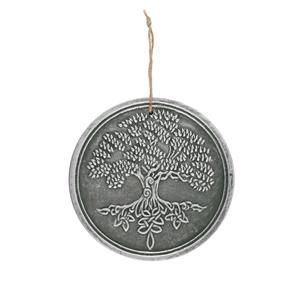 Terracotta Silver Tree of Life Plaque by Lisa Parker