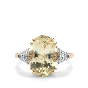 Serenite Ring with Diamond in 18K Gold 5.03cts