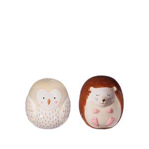 Forest Folk Owl & Hedgehog Salt & Pepper