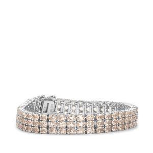 Alto Ligonha Morganite Bracelet in Sterling Silver 19.75cts