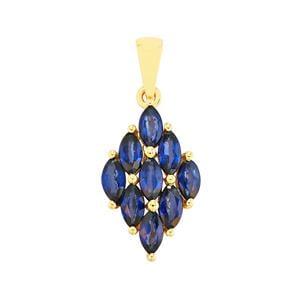 1.56ct Sri Lankan Sapphire 10K Gold Pendant