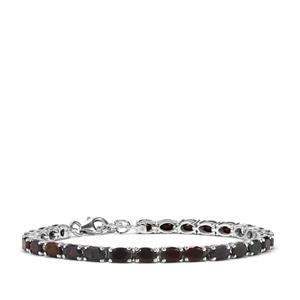 Ethiopian Black Opal Bracelet in Sterling Silver 7.36cts