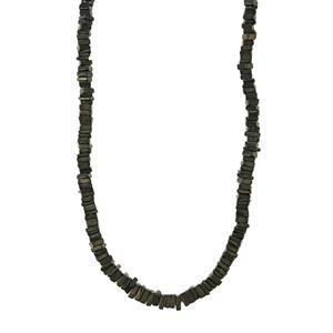 Black Spinel Graduated Bead Necklace in Sterling Silver 143cts