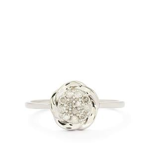 1/5ct Diamond Sterling Silver Ring