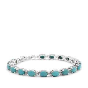 Sleeping Beauty Turquoise Bracelet with Tanzanite in Sterling Silver 13.39cts