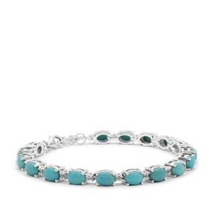 Sleeping Beauty Turquoise & Tanzanite Sterling Silver Bracelet ATGW 13.39cts
