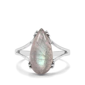 5.11ct Labradorite Sterling Silver Ring