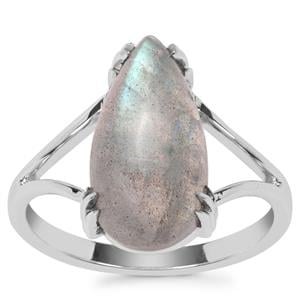 Labradorite Ring in Sterling Silver 5.11cts