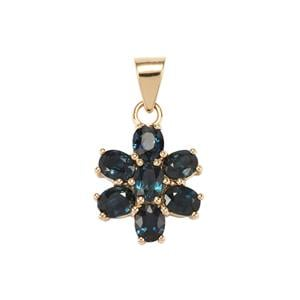 Australian Blue Sapphire Pendant in 10k Gold 2.27cts