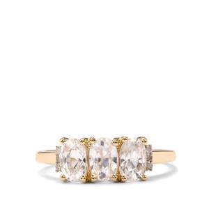 Ratanakiri Zircon & Diamond 10K Gold Ring ATGW 2.60cts