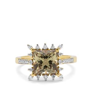 Csarite® Ring with Diamond in 18K Gold 3.37cts