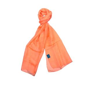 100% Silk Plain Dyed Orange Scarf