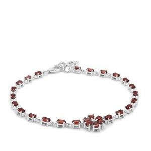 Rajasthan Garnet Bracelet in Sterling Silver 7.07cts