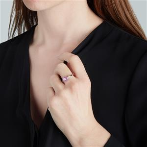 Ilakaka Hot Pink Sapphire Ring in Sterling Silver 2.40cts (F)