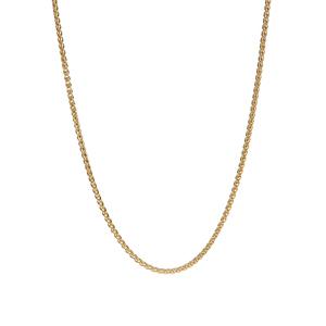 """20"""" 9K Gold Dettaglio Spiga Chain 2.70g"""