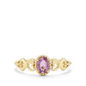 0.37ct Purple Sapphire 9K Gold Ring