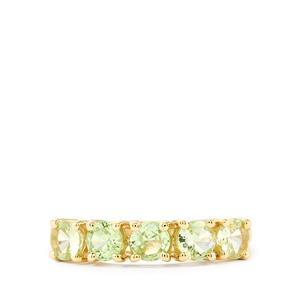 Ultraviolet Colour Change Garnet Ring in 9K Gold 1.35cts