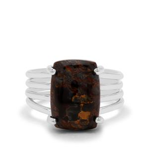 Arizona Pietersite Ring in Sterling Silver 7cts