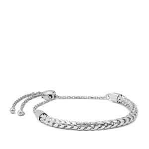 "10"" Sterling Silver Altro Franco Round Slider Bracelet 9.68g"