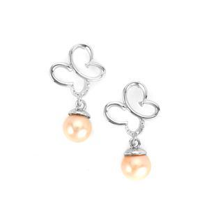 Kaori Cultured Pearl Butterfly Sterling Silver Earrings