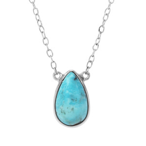 Arizona Turquoise Necklace in Sterling Silver 4.60cts
