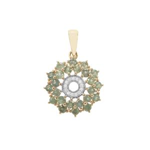 Alexandrite Pendant with Ceylon White Sapphire in 9K Gold 1.44cts