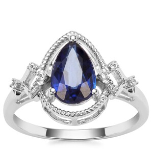 Nilamani Ring with Natural Zircon in 9K White Gold 1.71cts