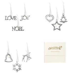 Set of 3 Christmas Decorations - With Snowy Quartz Gemstones ATGW 21cts