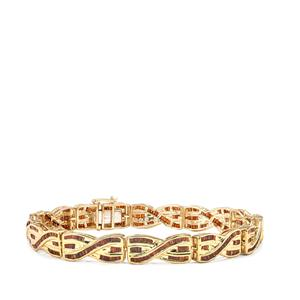 3.20ct Red Diamond 10K Gold Tomas Rae Bracelet