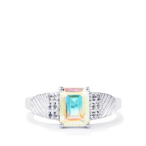 Mercury Mystic Topaz Ring with White Topaz in Sterling Silver 1.90cts